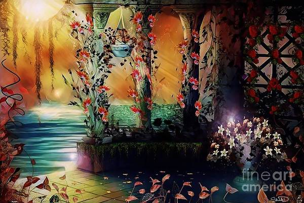 Digital Art - The Terrace Behind The Palace by Swedish Attitude Design