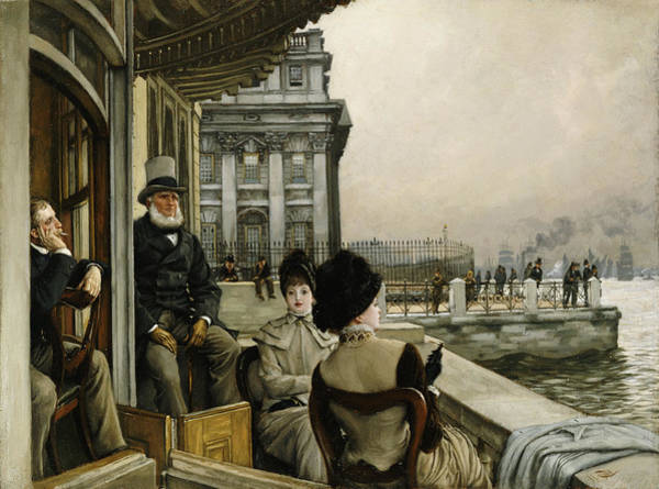 Painting - The Terrace Of The Trafalgar Tavern Greenwich by James Jacques Joseph Tissot