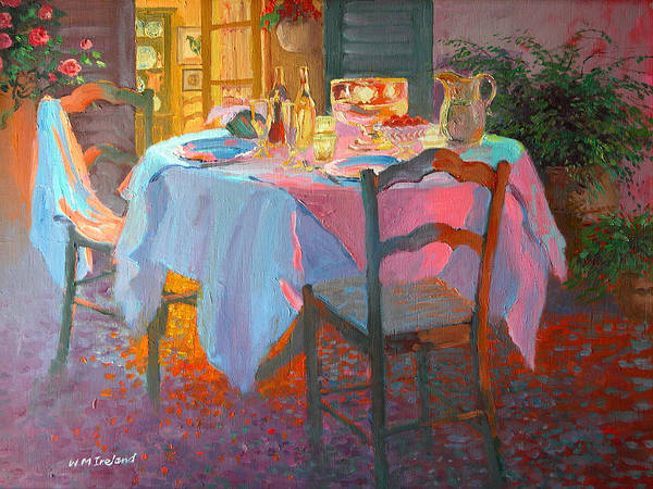 Dining Al Fresco Painting - The Terrace by William Ireland