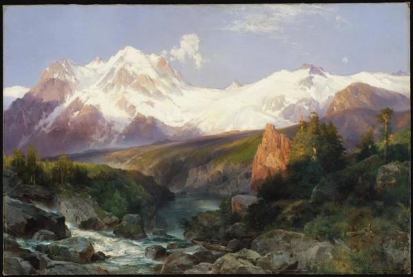Wall Art - Painting - The Teton Range by Thomas Moran
