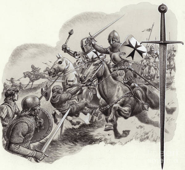 Wall Art - Painting - The Teutonic Knights by Pat Nicolle