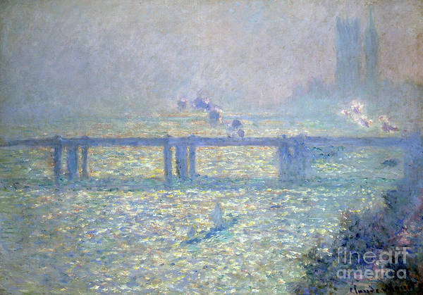 Westminster Painting - The Thames At Charing Cross Bridge, London, 1899 by Claude Monet