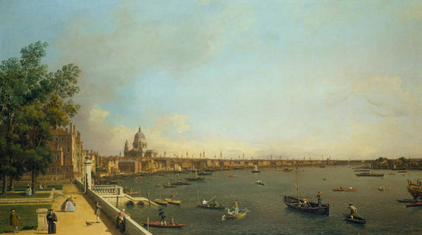 Painting - The Thames From Somerset House Terrace Towards The City by Canaletto