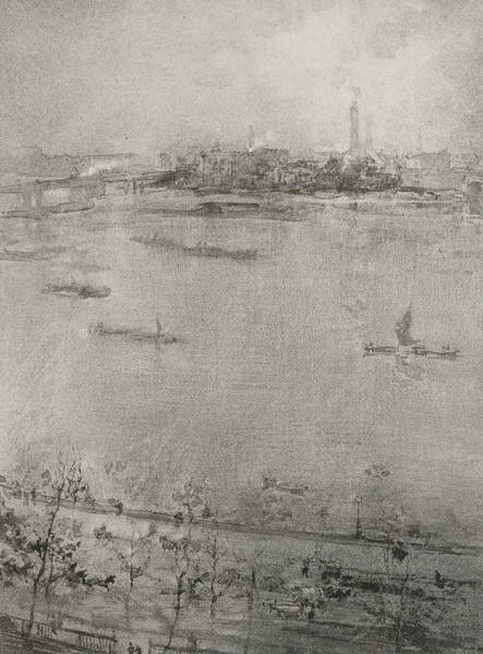 Grimy Wall Art - Painting - The Thames by James Abbott McNeill Whistler