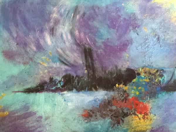 Painting - The Thames by Nikki Dalton