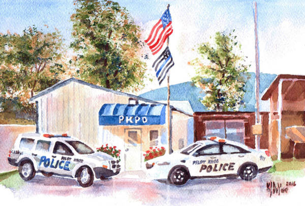 Wall Art - Painting - The Thin Blue Line by Kip DeVore