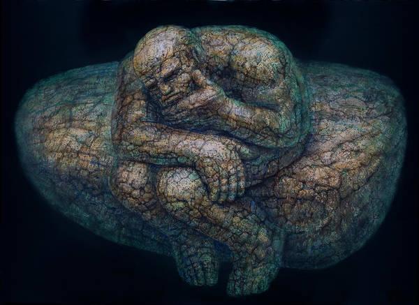Metaphor Painting - The Thinker by De Es Schwertberger