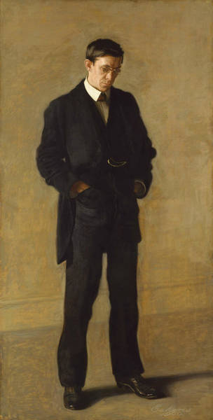 Painting - The Thinker, Portrait Of Louis N. Kenton by Thomas Eakins