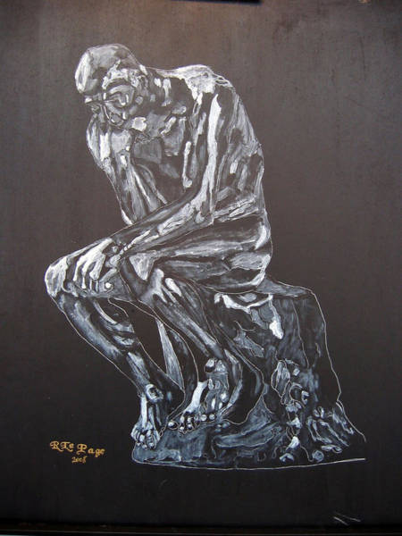 Painting - The Thinker by Richard Le Page