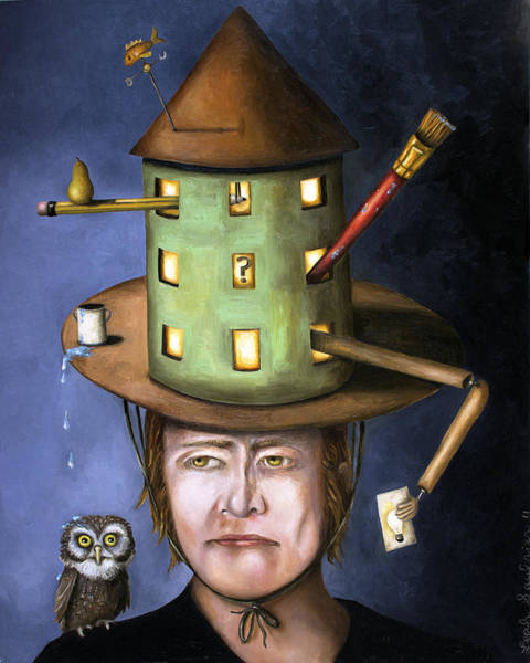 Painting - The Thinking Cap by Leah Saulnier The Painting Maniac