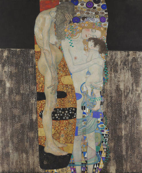 Wall Art - Painting - The Three Ages Of Woman-detail-1 by Gustav Klimt