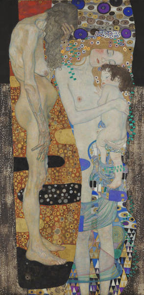 Wall Art - Painting - The Three Ages Of Woman-detail-2 by Gustav Klimt