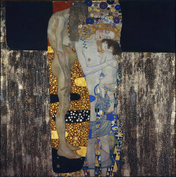Developed Painting - The Three Ages Of Woman Gustav Klimt by Gustav Klimt
