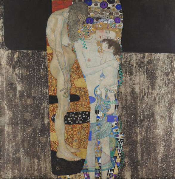 Wall Art - Painting - The Three Ages Of Woman-le Tre Eta  by Gustav Klimt