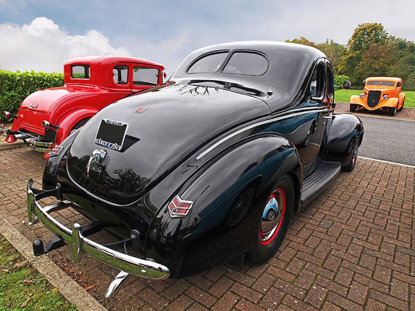 1940 Ford Coupe Photograph - The Three Amigos - Hot Rods At Pistons In The Park by Gill Billington