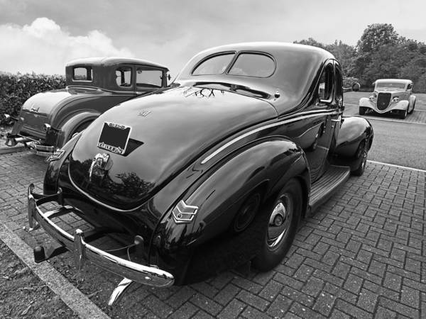 1940 Ford Coupe Photograph - The Three Amigos - Hot Rods In Black And White by Gill Billington
