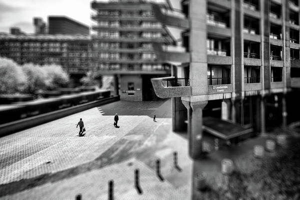 Photograph - The Three And The Ominous Barbican City by John Williams