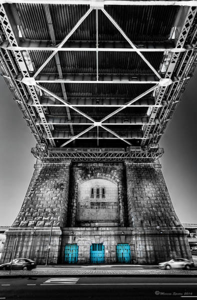 Steel Construction Wall Art - Photograph - The Three Blue Doors by Marvin Spates
