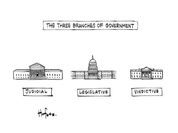 Hafeez Drawing - The Three Branches Of Government by Kaamran Hafeez