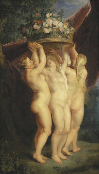 Grace Painting - The Three Graces by Rubens