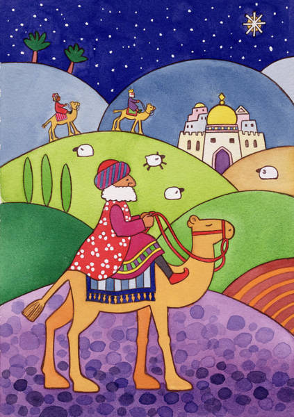 Cathy Painting - The Three Kings by Cathy Baxter