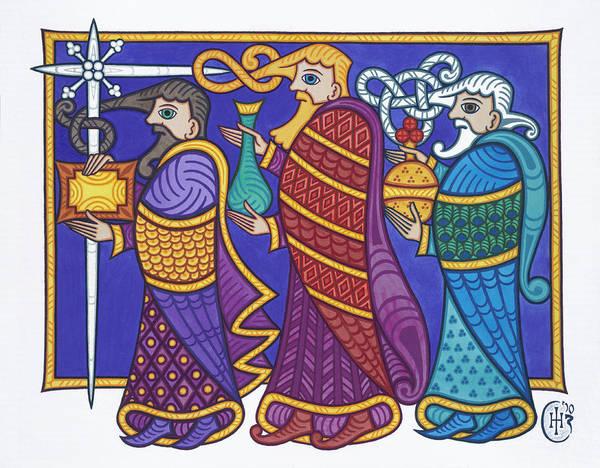Three Kings Painting - The Three Kings by Ian Herriott