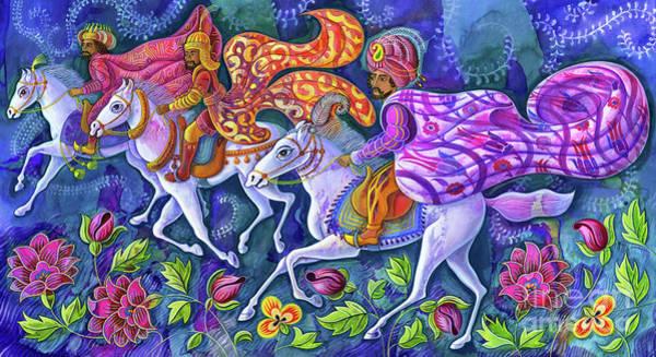 Wall Art - Painting - The Three Kings by Jane Tattersfield
