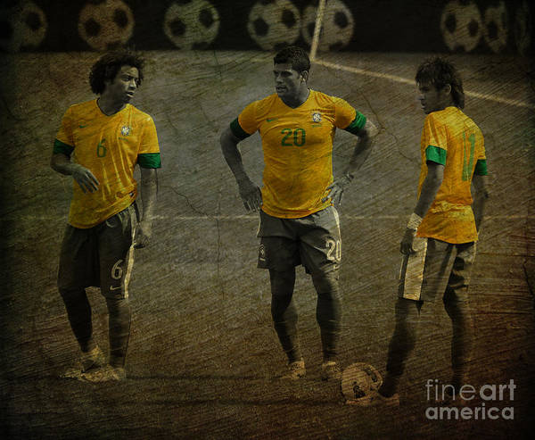 Super Cup Wall Art - Photograph - The Three Kings Marcelo Hulk Neymar Os Tres Reis  by Lee Dos Santos