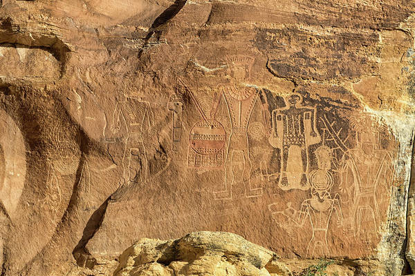 Wall Art - Photograph - The Three Kings Petroglyph Panel by Kathleen Bishop
