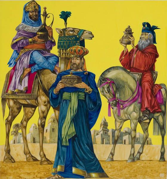 Three Kings Painting - The Three Kings by Richard Hook