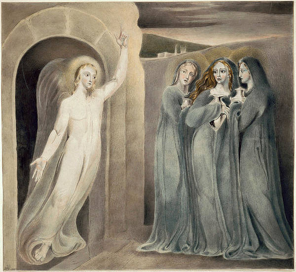 William Blake Drawing - The Three Maries At The Sepulchre by William Blake