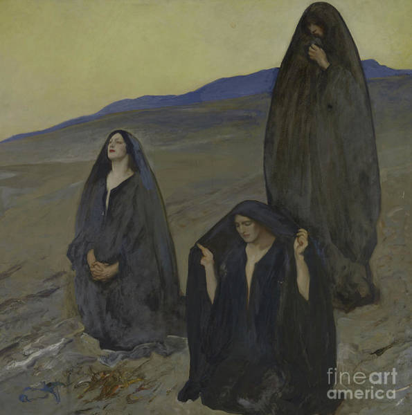 Wall Art - Painting - The Three Marys by Edwin Austin Abbey