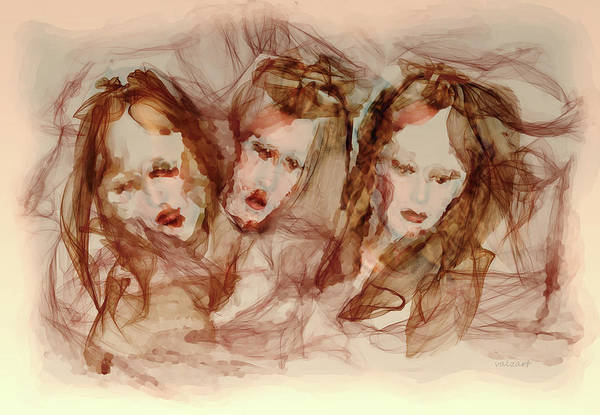 Painting - The Three Muses by Valerie Anne Kelly