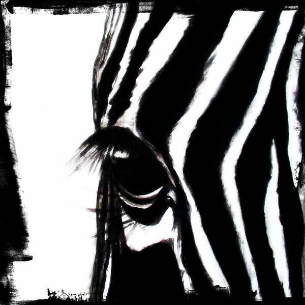 Painting - The Three Musketeers - Zebra by Tracey Armstrong