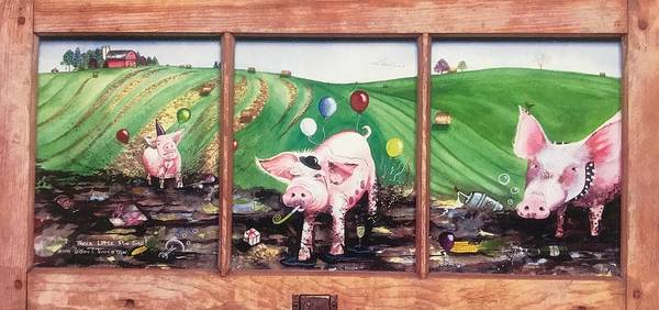 Painting - The Three Pig Gig by William T Templeton