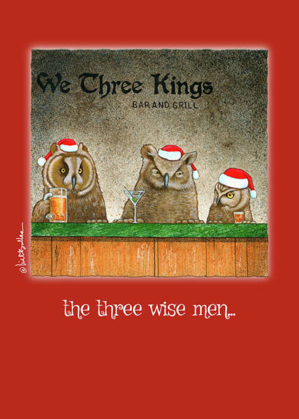 Owl Painting - The Three Wise Men... by Will Bullas