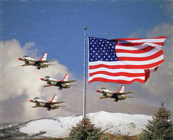 Wall Art - Photograph - The Thunderbirds - Red - White And Blue by Donna Kennedy