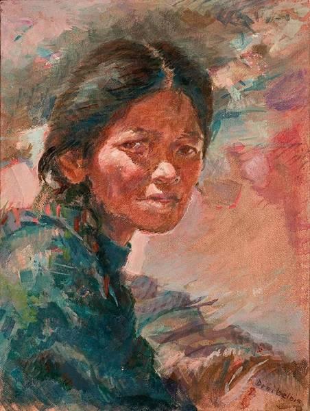 Painting - The Tibetan Girl by Ellen Dreibelbis