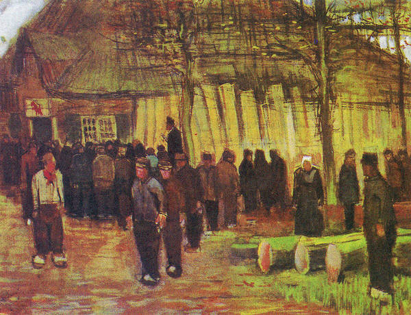 Painting - The Timber Auction by Vincent van Gogh