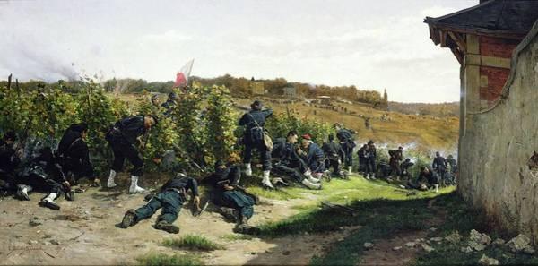 River Seine Painting - The Tirailleurs De La Seine At The Battle Of Rueil Malmaison by Etienne Prosper Berne-Bellecour