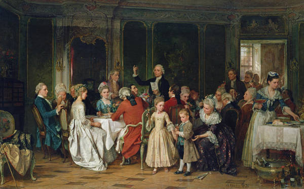 Wedding Invitation Wall Art - Painting - The Toast To The Bride, 1870  by Marc Louis Benjamin Vautier