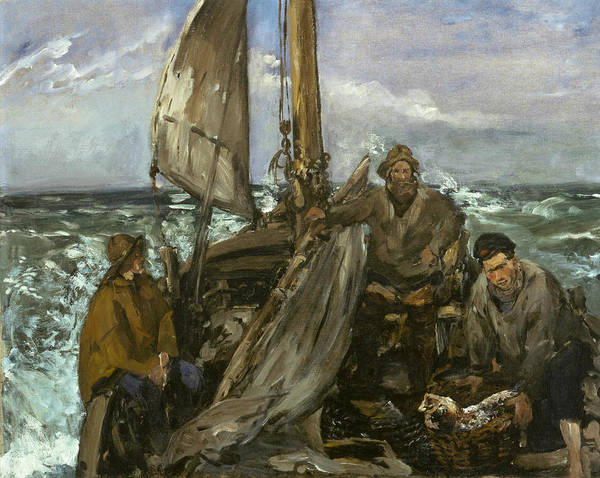Painting - The Toilers Of The Sea by Edouard Manet