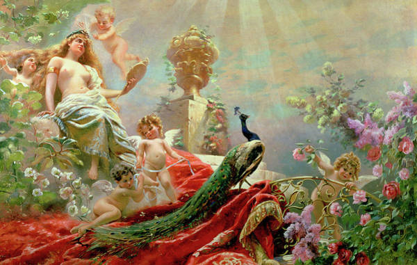 Fertility Painting - The Toilet Of Venus by Konstantin Yegorovich Makovsky