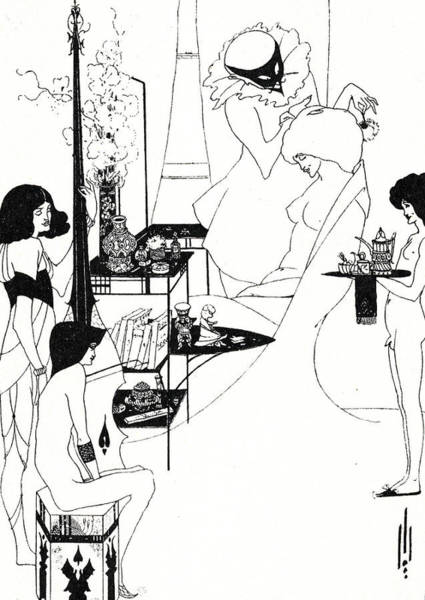 Waiting Room Drawing - The Toilette Of Salome by Aubrey Beardsley