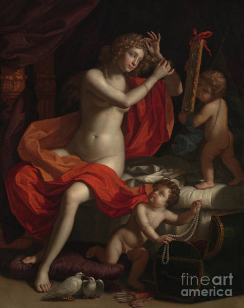 Wall Art - Painting - The Toilette Of Venus by Benedetto the Younger Gennari