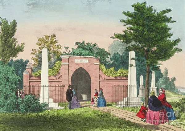Wall Art - Painting - The Tomb Of Washington, Mount Vernon, Virginia  by Currier and Ives
