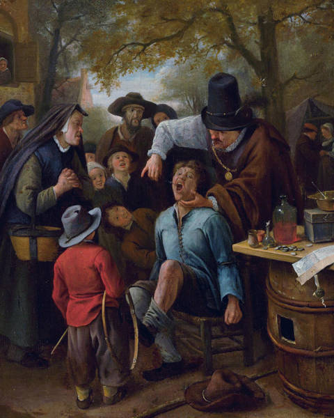 Wall Art - Painting - The Tooth-puller by Jan Steen