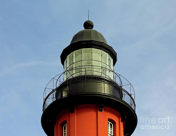 Photograph - The Top Of Ponce Inlet Lighthouse by D Hackett