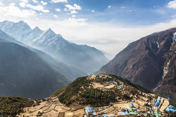 Photograph - The Top Of The Namche Bazaar In Nepal by Didier Marti