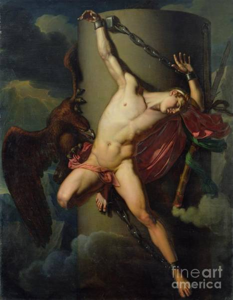 Cesar Wall Art - Painting - The Torture Of Prometheus by Jean-Louis-Cesar Lair